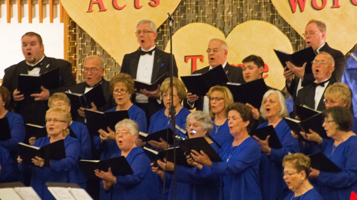 The Gilbert Jackson Chorale is singing